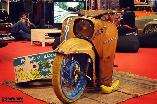 Automobil Messe Erfurt - Ostschool Customs - die Chiquita Schwalbe