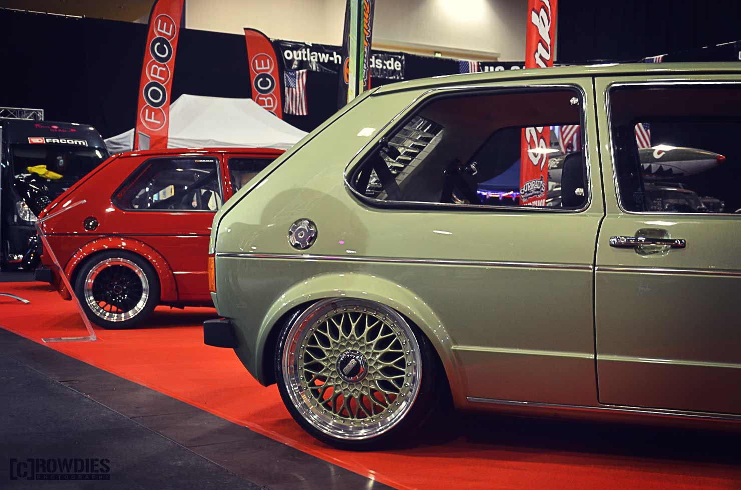 Automobil Messe Erfurt - Golf 1 BBS