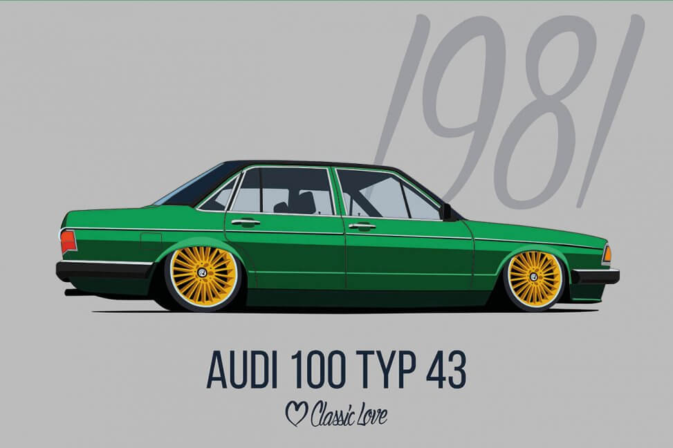 Illustration – Audi 100 Typ 43