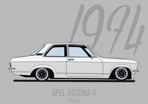 Illustration –Opel Ascona A
