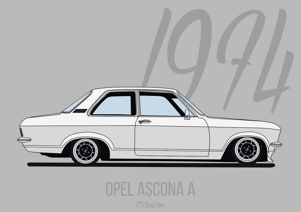 Illustration – Opel Ascona A