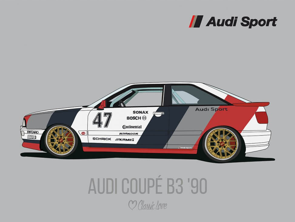 Illustration – Audi Coupe B3