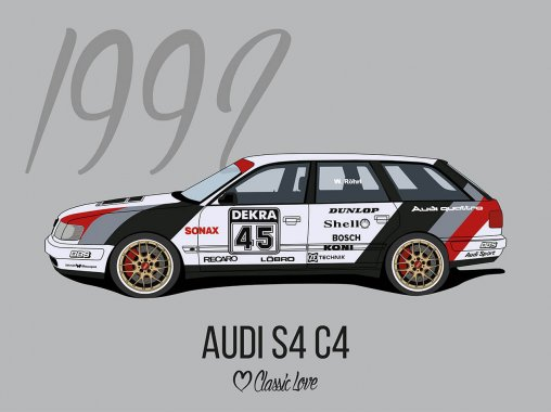 Illustration – Audi S4 C4