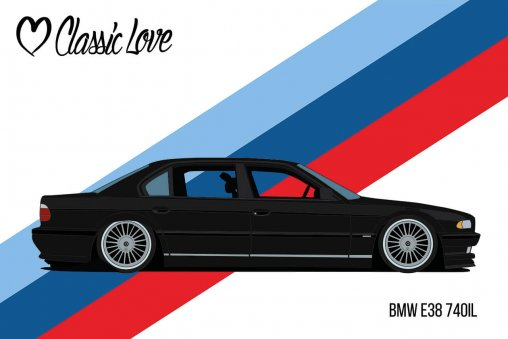 Illustration – BMW E38 740IL