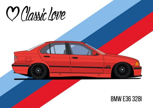 Illustration – BMW E36 328i