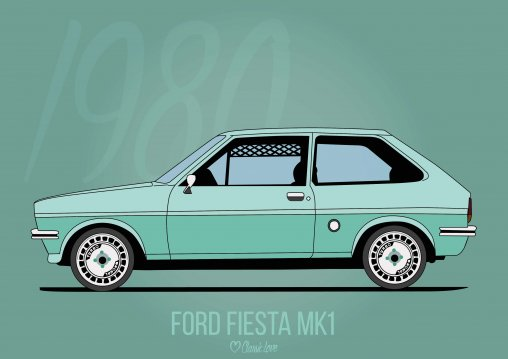 Illustration – Ford Fiesta MK1
