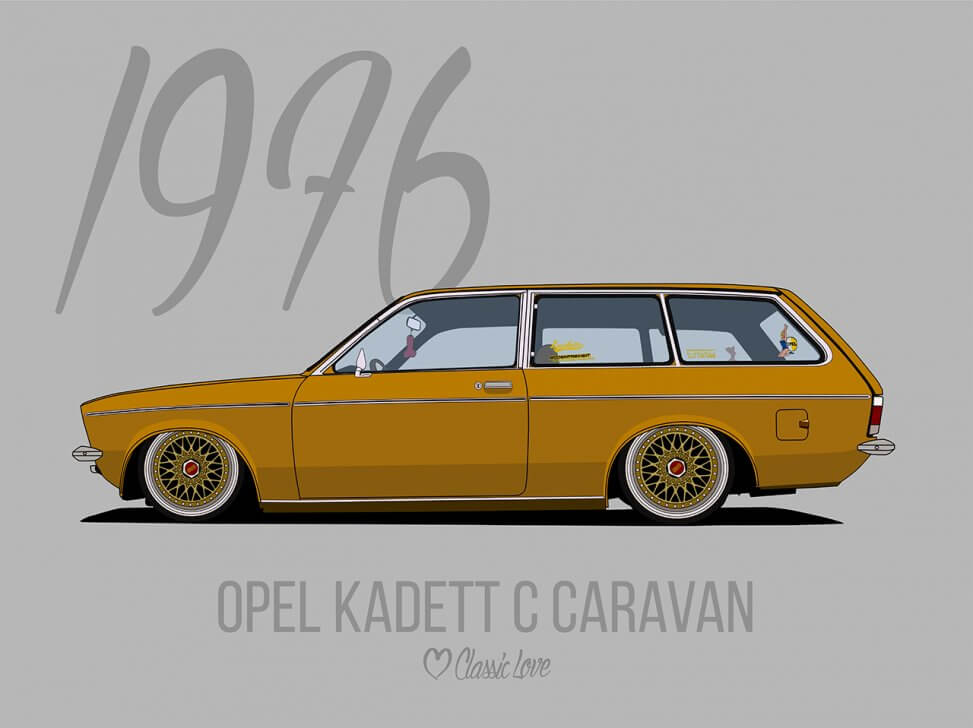 Illustration – Opel Kadett C Caravan