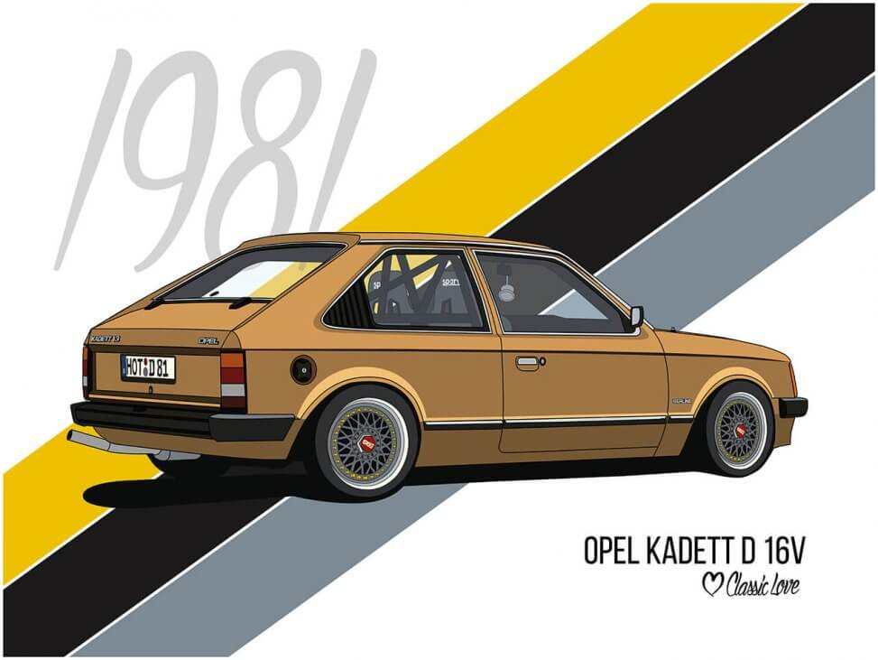 Illustration – Opel Kadett D 16V