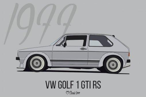 Illustration –VW Golf 1 GTI RS