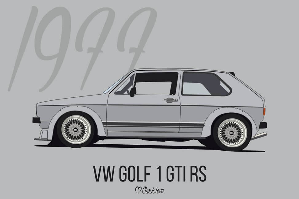 Illustration – VW Golf 1 GTI RS